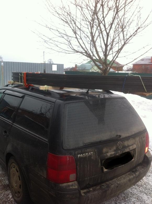 Перевозка ферм 5,4 м на легковом багажнике